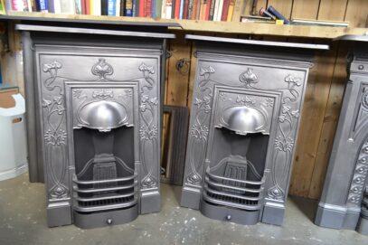 Art Nouveau Bedroom Fireplaces Pair - Oldfireplaces