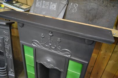 Edwardian Art Nouveau Tiled Fireplace 4209TC - Oldfireplaces