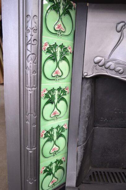 Vintage Art Nouveau Tiled Insert 4219TI - Oldfireplaces